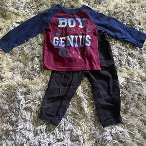 Boy Genius Navy Blue Outfit